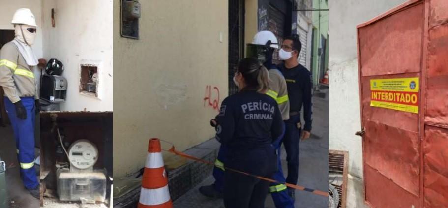 Polícia flagra quatro casos de roubo de energia e prende cinco suspeitos de receptação de sucata roubada