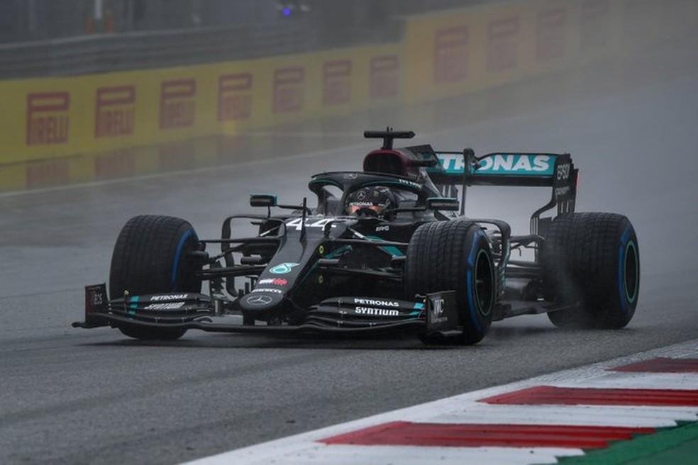 Hamilton durante a classificação do GP da Estíria — Foto: Divulgação