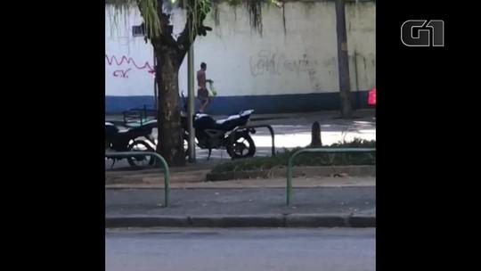 Suspeito de pichar muro de batalhão da PM com referência a facção criminosa é preso; vídeo