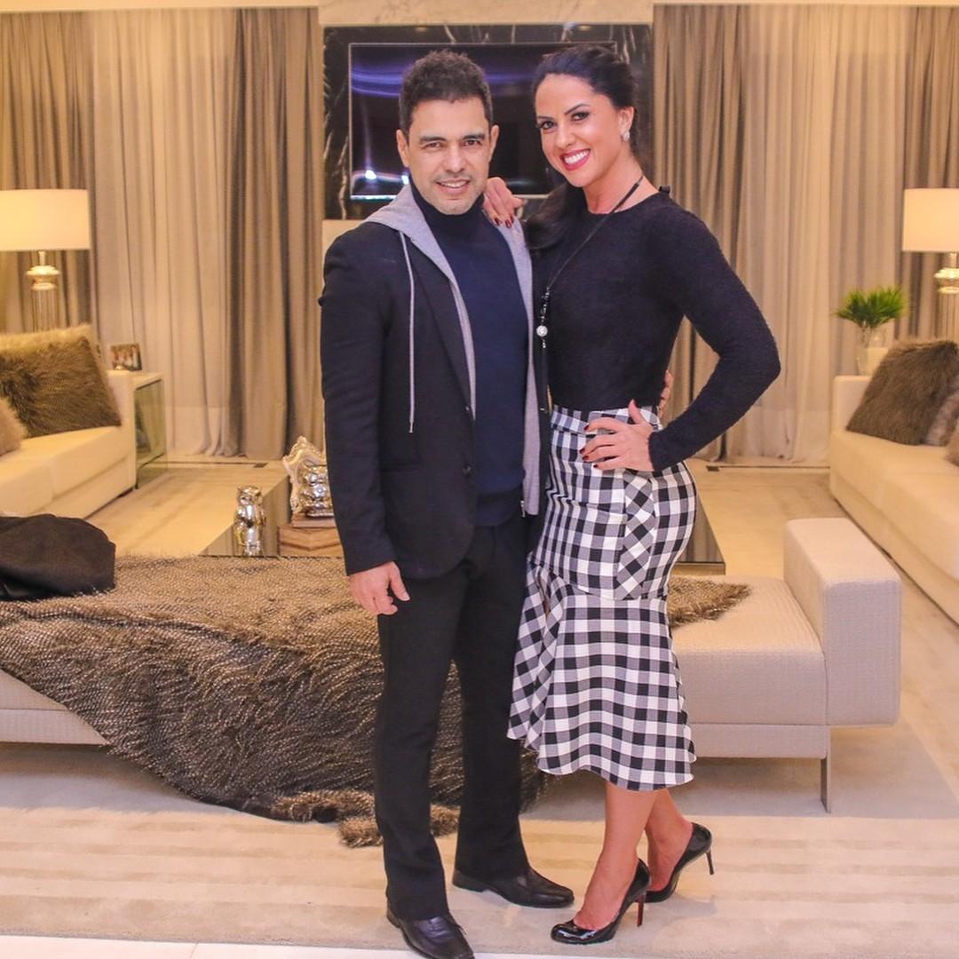 Zzezé di Camargo e Graciele Lacerda (Foto: Reprodução / Instagram)