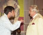 Em 'Celebridade' (2003), com Hugo Carvana | Arquivo O Globo