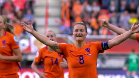 Os gols de Holanda 4 x 2 Dinamarca pela final da Euro feminina de futebol