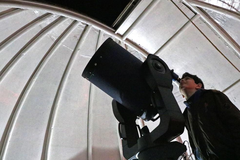 Colégio Estadual do Paraná busca incentivar os alunos por meio do Observatório Astronômico. — Foto: Divulgação/Colégio Estadual do Paraná