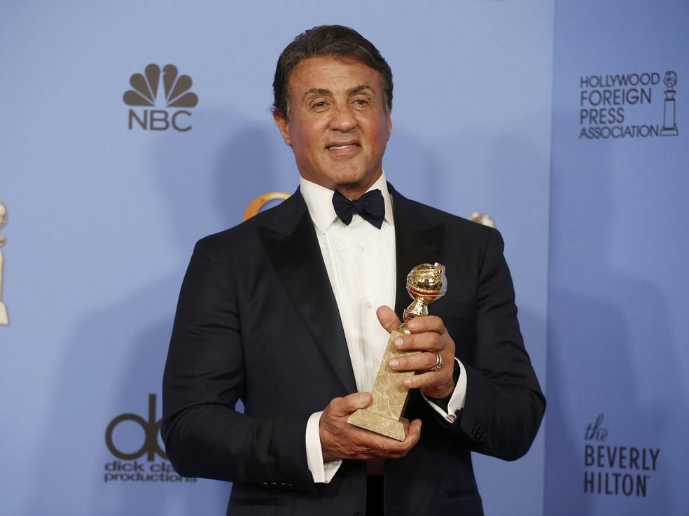 Sylvester Stallone ganhou o Globo de Ouro de melhor ator coadjuvante por 'Creed' (Foto: REUTERS/Lucy Nicholson)
