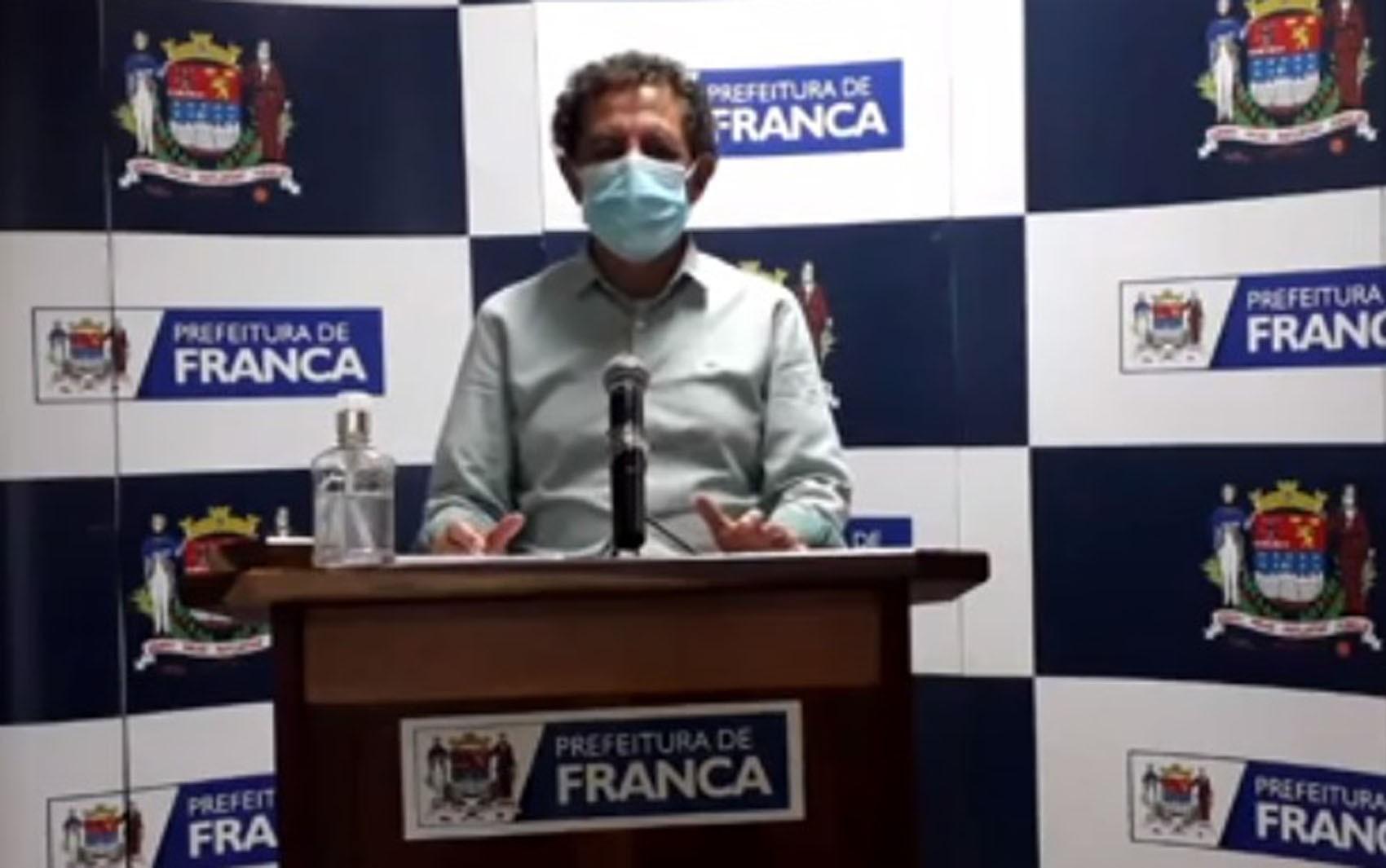 Prefeito de Franca, SP, anuncia ampliação de nove leitos de UTI para enfrentamento da Covid-19