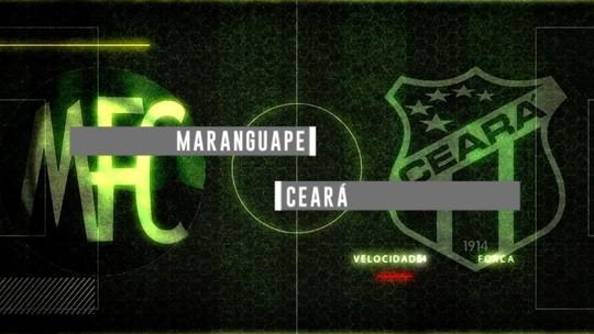 Maranguape e Ceará jogam pelo Campeonato Cearense com transmissão neste domingo (18)