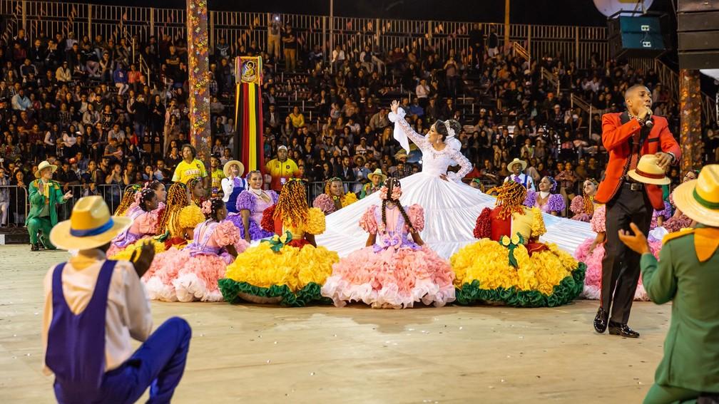 Grupo Fogo de Palha vence Concurso de Quadrilhas do Arraial de Belo Horizonte em 2018. — Foto: Beto Staino/Belotur/Divulgação