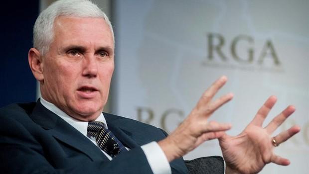 Mike Pence, governador da Indiana (EUA) (Foto: Rick D'elia/EFE)
