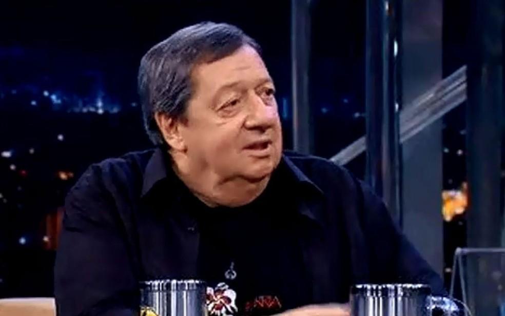 Guga Oliveira, durante entrevista ao Programa do Jô em 2010 — Foto: Reprodução/TV Globo