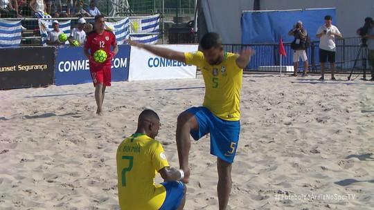 Brasil goleia Uruguai por 10 a 1 e é campeão das Eliminatórias pela 8ª vez