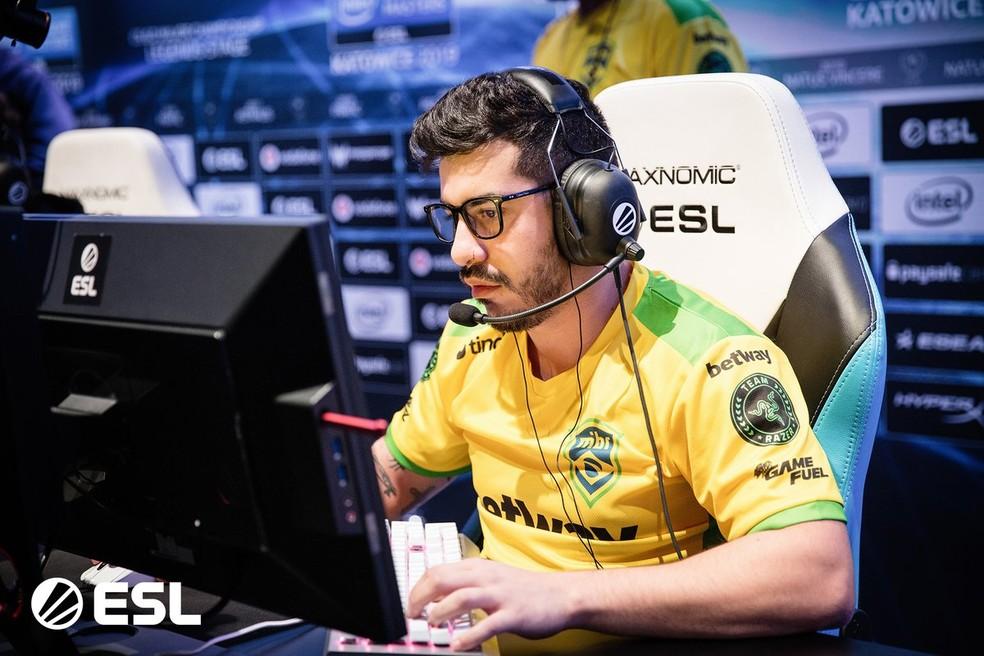 Coldzera já foi eleito o melhor jogador do mundo — Foto: Divulgação/ESL