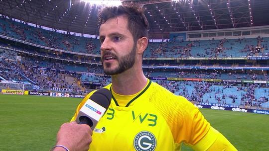 """Estreante em Série A, Marcelo Rangel lamenta primeiro tempo do Goiás: """"Custou a derrota"""""""