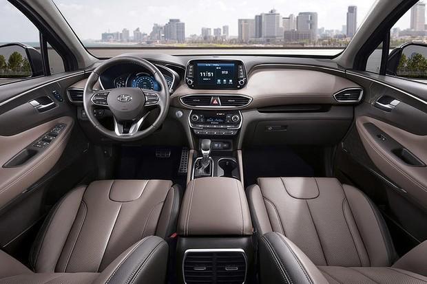 Interior do novo Hyundai Santa Fe (Foto: Divulgação)
