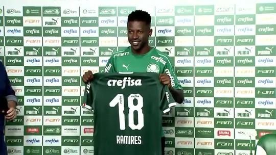 Ramires se diz 95% pronto para estrear e revela peso de Felipão na escolha pelo Palmeiras