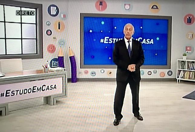 O presidente-professor de Portugal, Marcelo Rebelo de Sousa, deu aulas virtuais a crianças e adolescentes sobre cidadania, com lições da pandemia