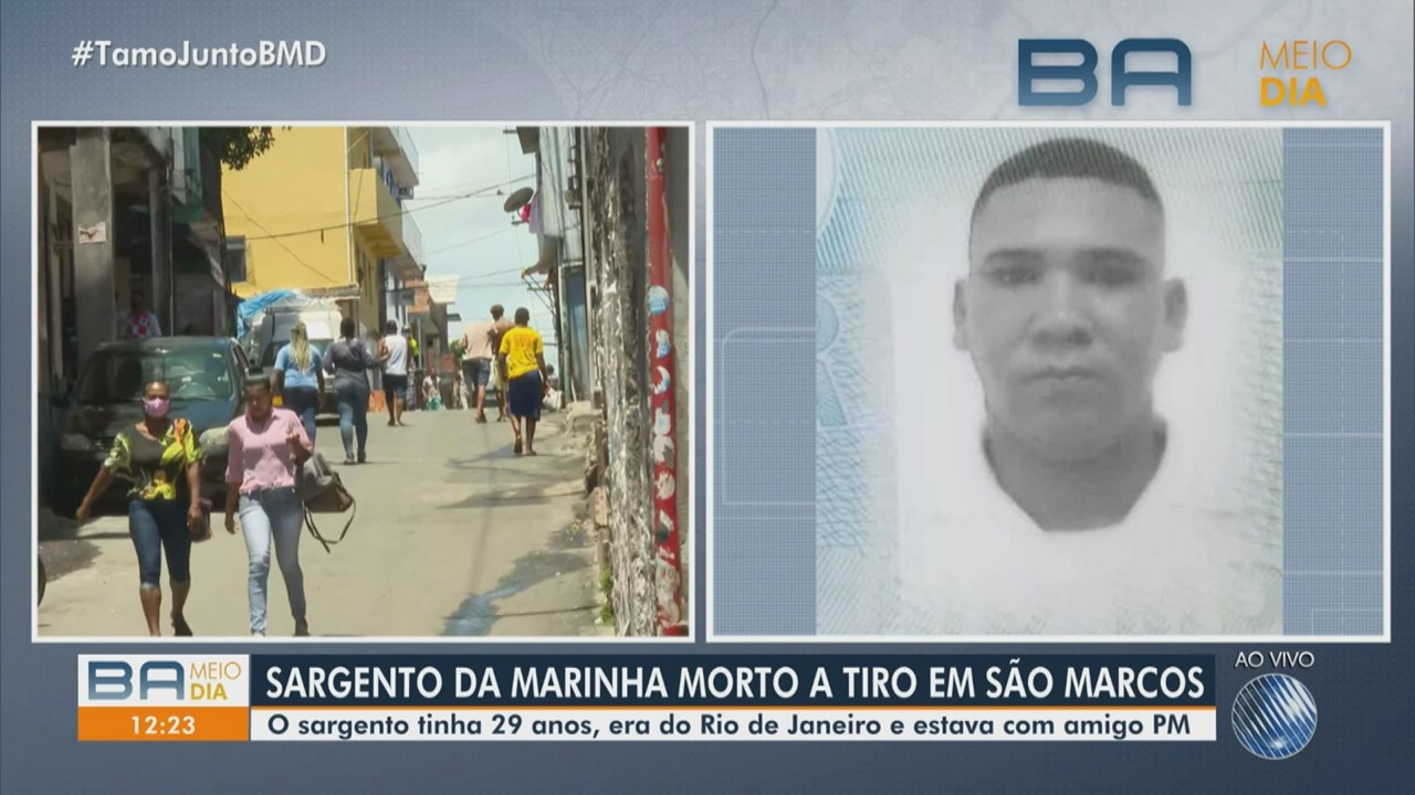 Sargento da Marinha é morto a tiros no bairro de São Marcos, em Salvador