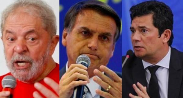 Lula, Bolsonaro e Moro