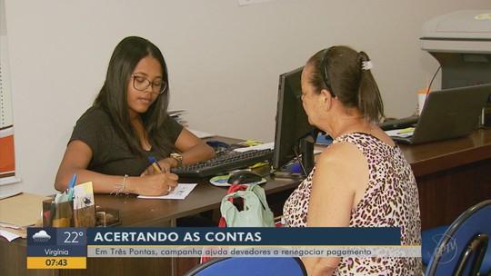 Campanha ajuda devedores a renegociar pagamento em Três Pontas, MG