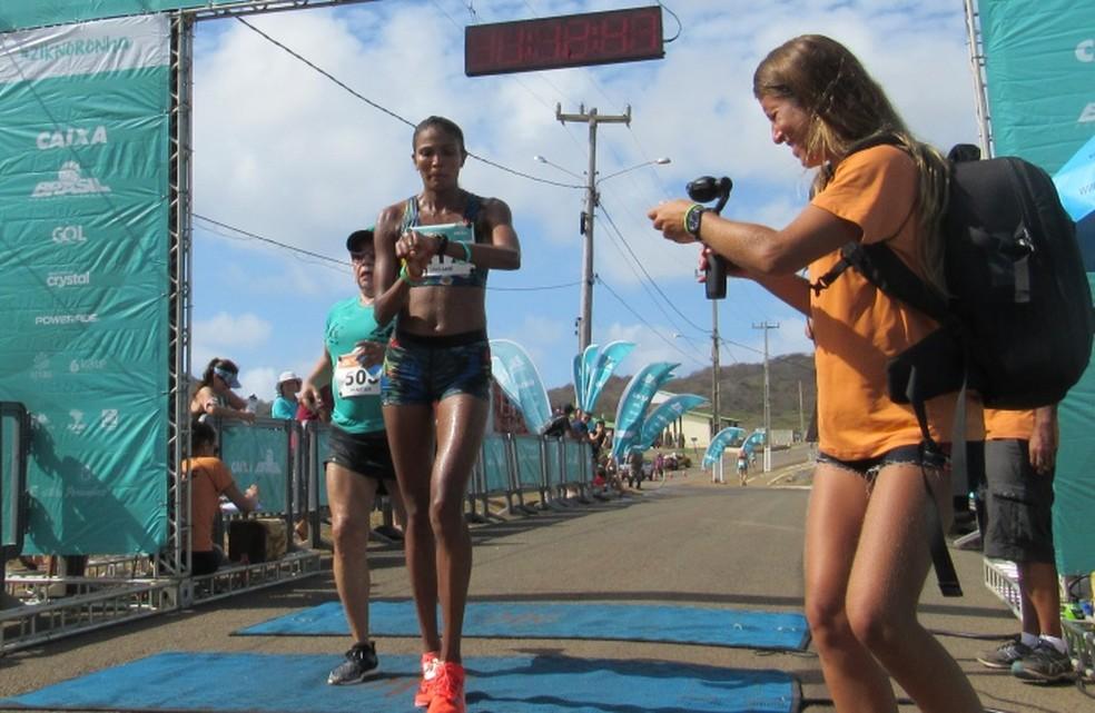 Jaciane de Jesus foi a vencedora entra as mulheres — Foto: Ana Clara Marinho/TV Globo