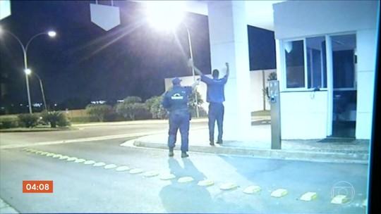 Imagens mostram momento em que vigilante mata porteiro a tiros em GO