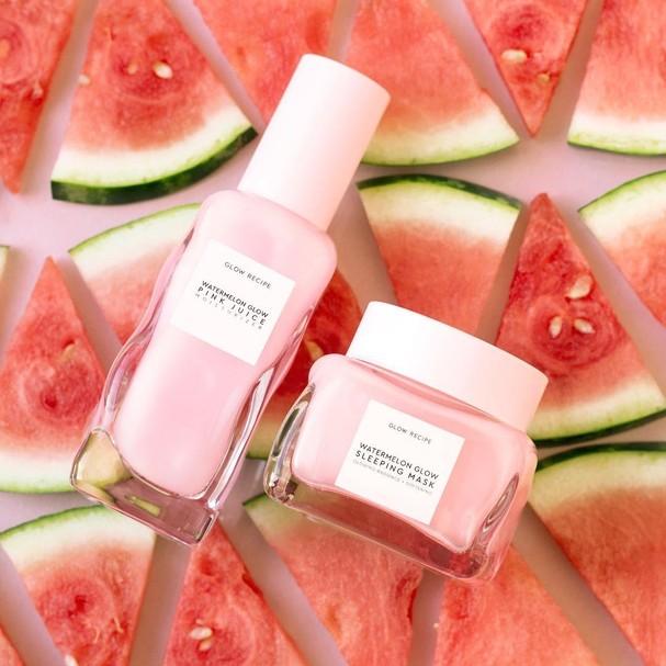 Produtos de beleza feitos com melancia  (Foto: Reprodução/Instagram)