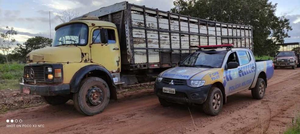 Polícia prendeu suspeito de furtar gado no interior do Tocantins — Foto: Divulgação/PM
