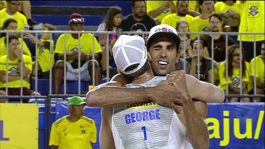 Pedro e George conquistam a medalha de bronze no Circuito Brasileiro de Vôlei de Praia