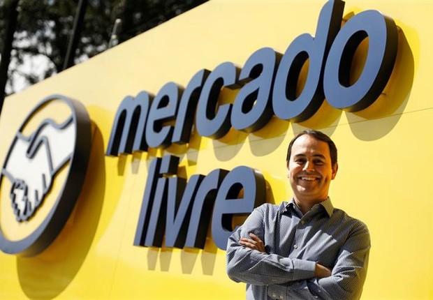 Stelleo Tolda, vice-presidente de operações, diante da sede do Mercado Livre (Foto: Nacho Doce/Reuters)
