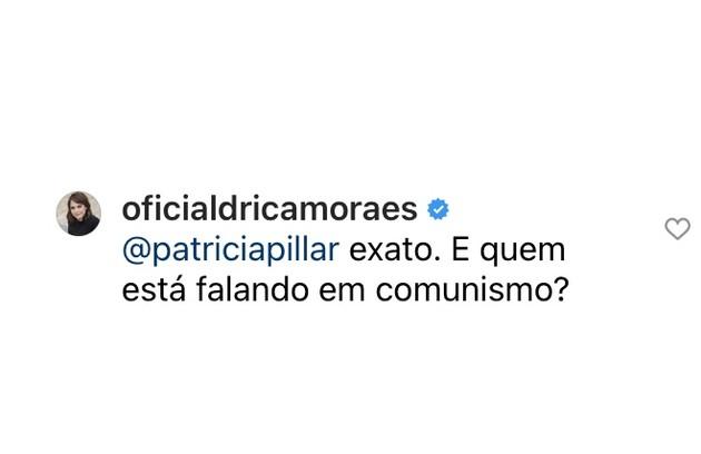 Drica Moraes concordou com o questionamento de Patricia Pillar (Foto: Reprodução)