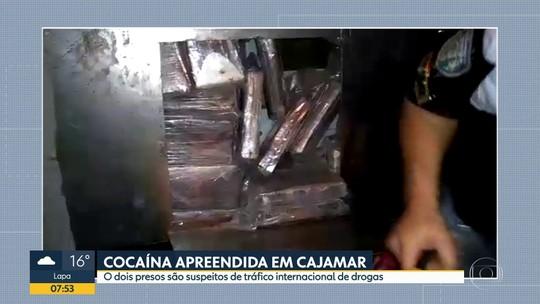 Polícia Rodoviária Federal prende dois homens com 180 tabletes de cocaína