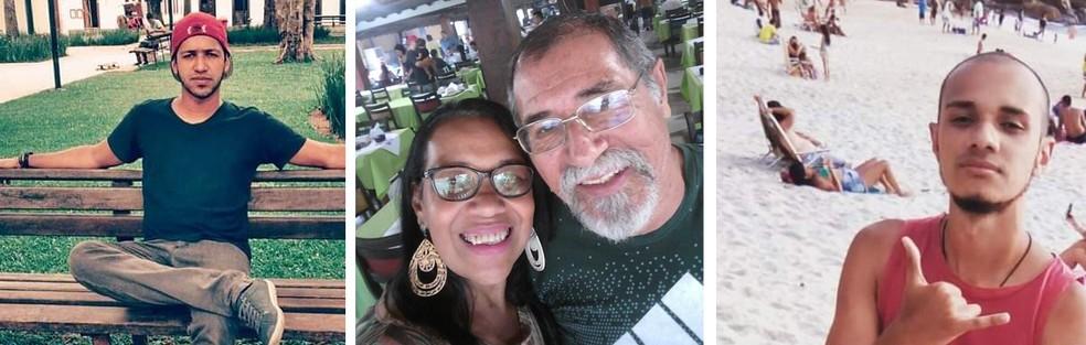 Mauro e Isabel morreram em deslizamento em Guaratiba; Aureo e Arthur saíram feridos — Foto: Redes sociais