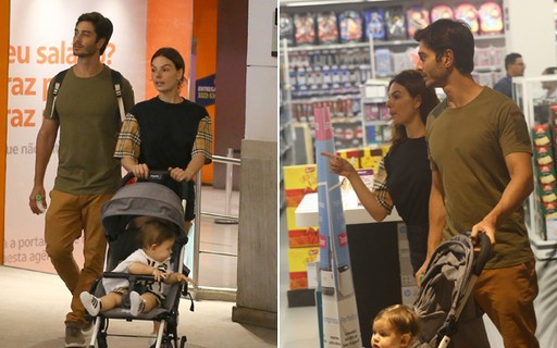 Isis Valverde curte domingo em família com marido e filho - QUEM Acontece