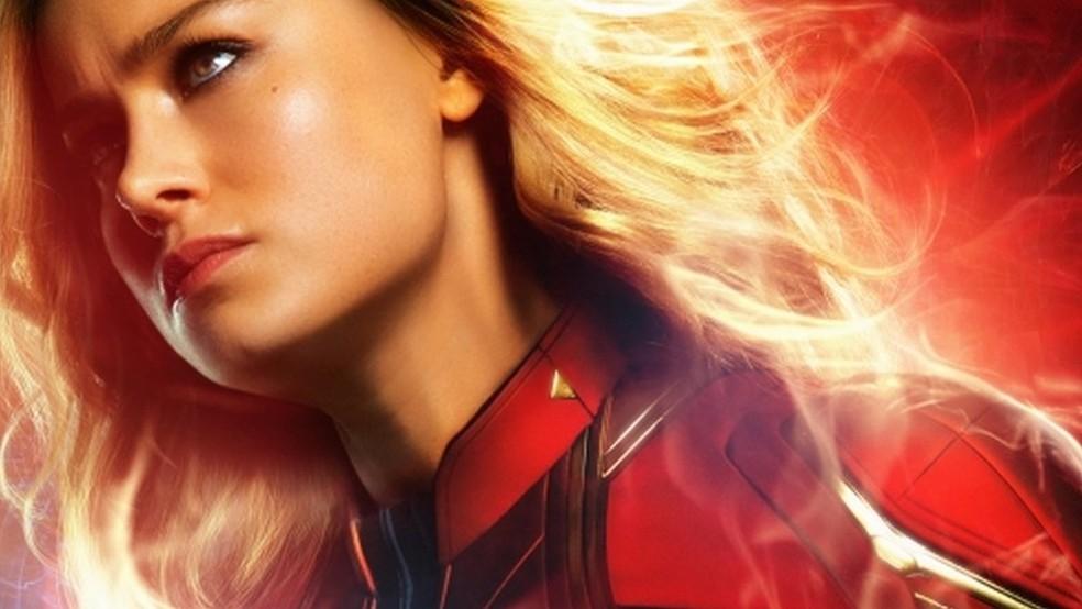 Somente em 2019 a Marvel estreou uma produção tendo uma mulher como personagem principal, 'Capitã Marvel'  — Foto: Marvel Studios