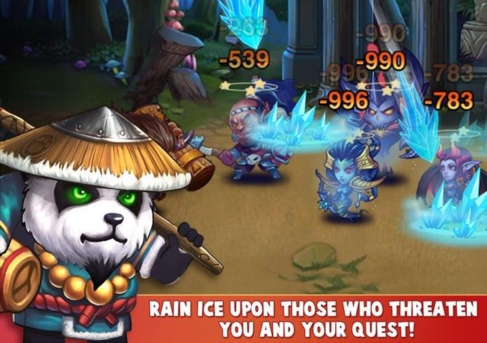 Jogo de combate em turnos traz personagens inspirado em jogos como World of Warcraft e Dota2 (Foto: Divulgação)