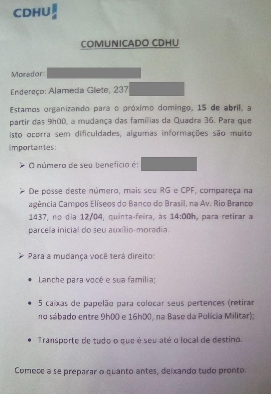 Governo estadual de São Paulo oferece lanches e caixas de papelão aos moradores da Quadra 36 da Cracolândia (Foto: Reprodução/Governo do Estado de São Paulo)