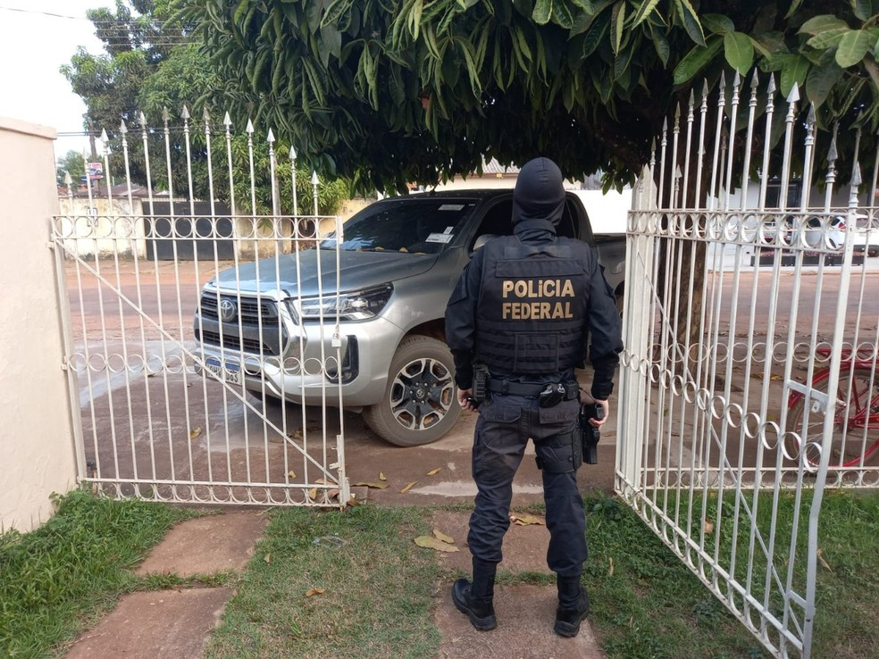 Operação Alcance cumpre mandados contra organização criminosa em RO, CE, MG e RR — Foto: PF/Divulgação