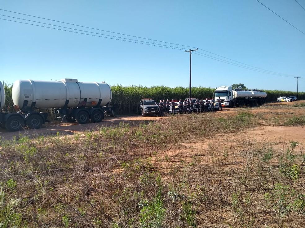 Quadrilha é presa por roubo e associação criminosa em Tatuí (SP) — Foto: Polícia Militar/Divulgação