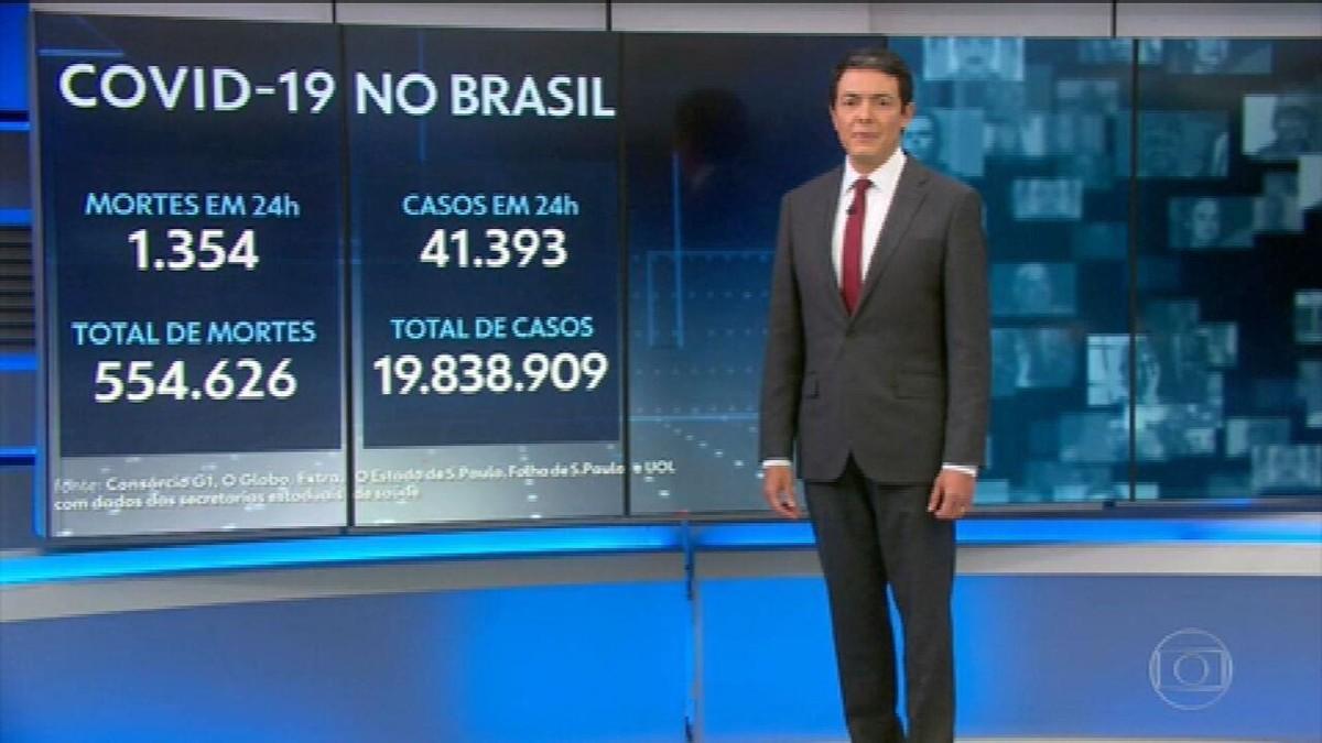Média móvel de mortes por Covid no Brasil é a mais baixa desde 22 de fevereiro