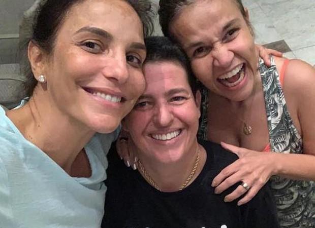 Ivete Sangalo, Adriane Bonatto e Cláudia Rodrigues (Foto: Reprodução/Instagram)