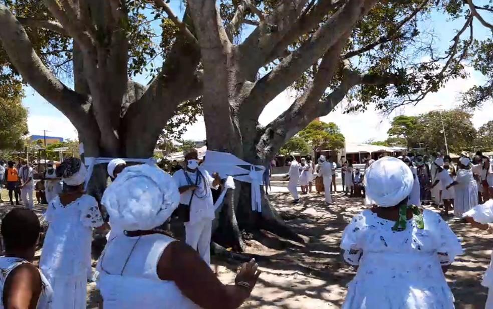 Protesto contra obra na Lagoa do Abaeté — Foto: Arquivo pessoal