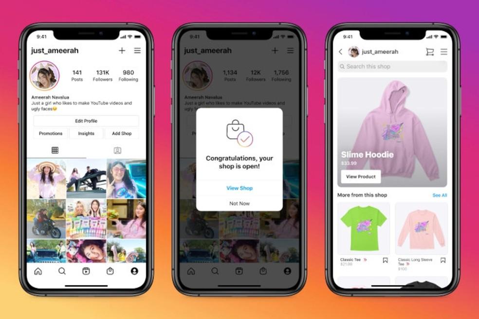 Será mais fácil criar lojas no Instagram Shop — Foto: Divulgação/Facebook