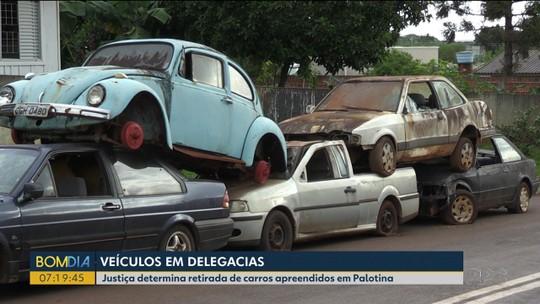 Justiça determina retirada de carros apreendidos em Palotina