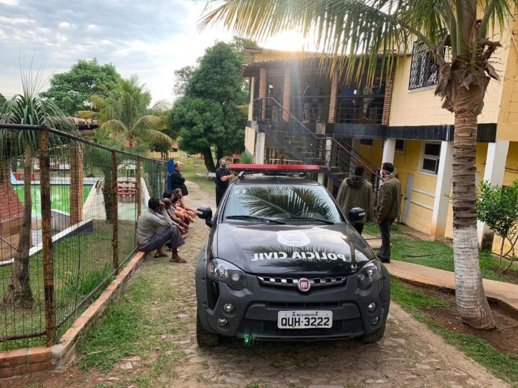 Polícia Civil faz operação em clínica de recuperação, em Prudente de Morais, na Região Central de Minas Gerais — Foto: Reprodução/Redes sociais