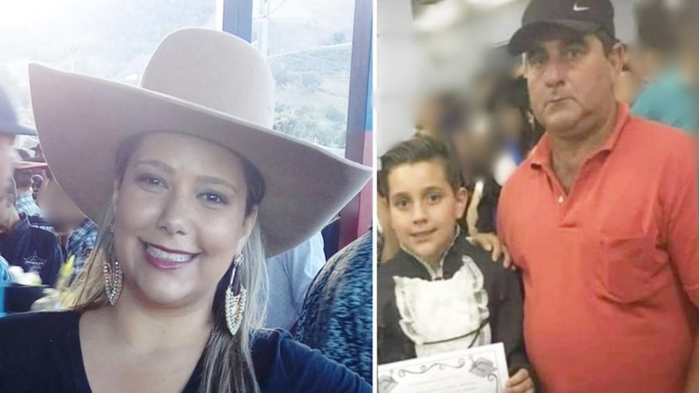 Esposa de motorista embriagado e pai e filho morreram em acidente em MG — Foto: Reprodução Facebook / TerradoMandu