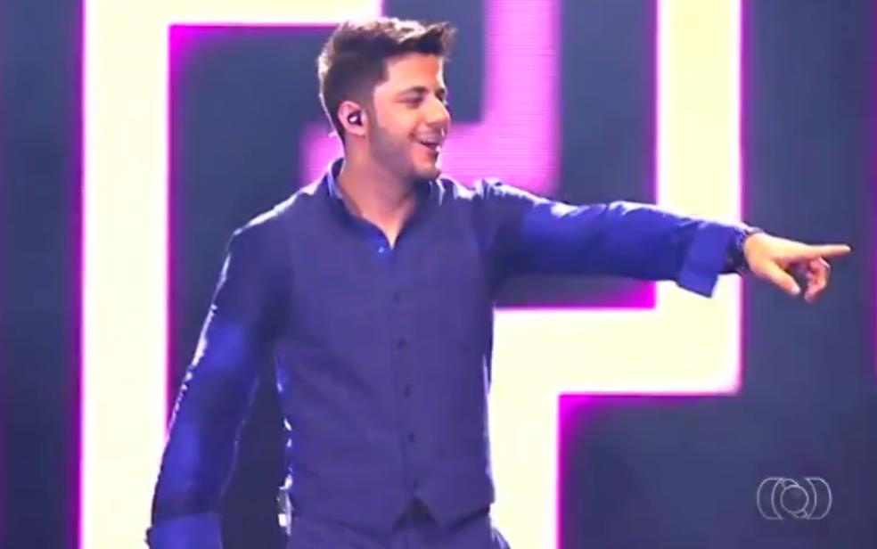 O cantor Cristiano Araújo, morto em acidente de carro há três anos (Foto: Reprodução/TV Anhanguera)