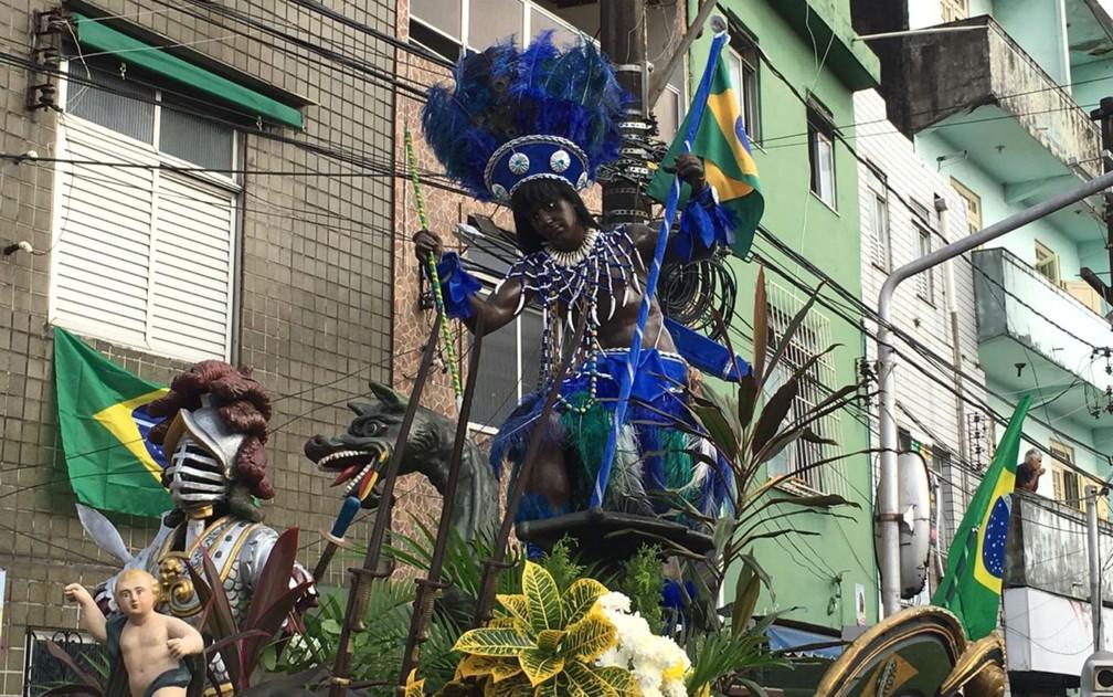 Imagem do Caboclo, um dos símbolos dos festejos do Dois de Julho — Foto: Alan Oliveira/G1