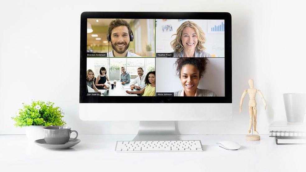 Zoom Meetings é ferramenta de videoconferência que aceita até 500 participantes — Foto: Divulgação/Zoom