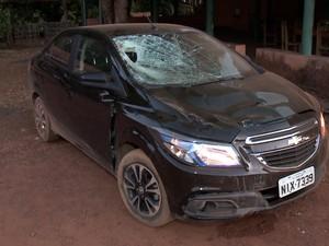 Motorista disse que perdeu o controle do carro (Foto: Reprodução/TV Clube)