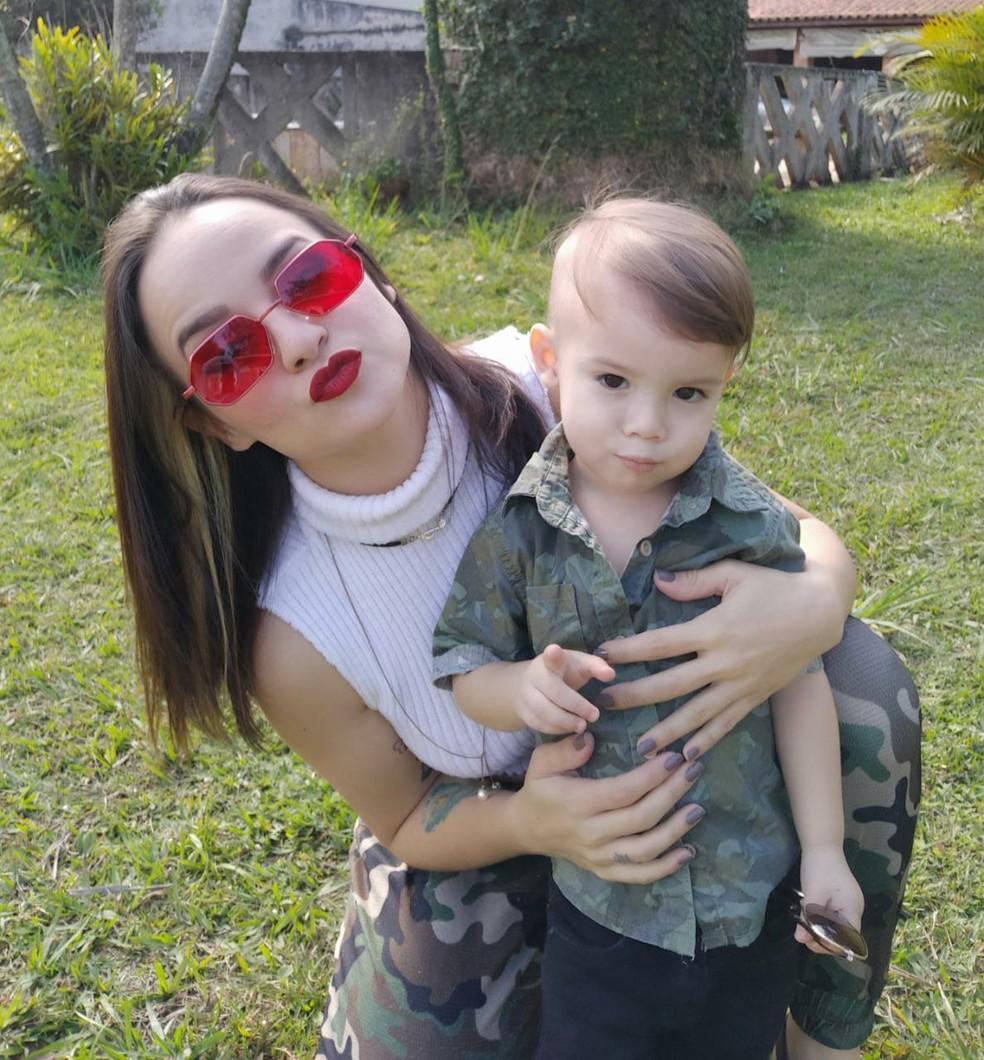 Thávyne e o filho Henrique — Foto: Arquivo pessoal