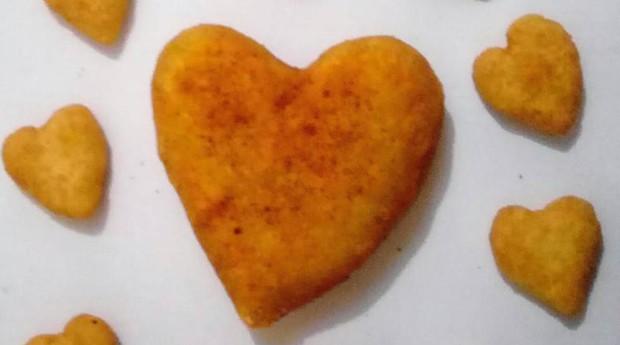 Coxinha de coração (Foto: Reprodução/Facebook/Fátima Salgados)